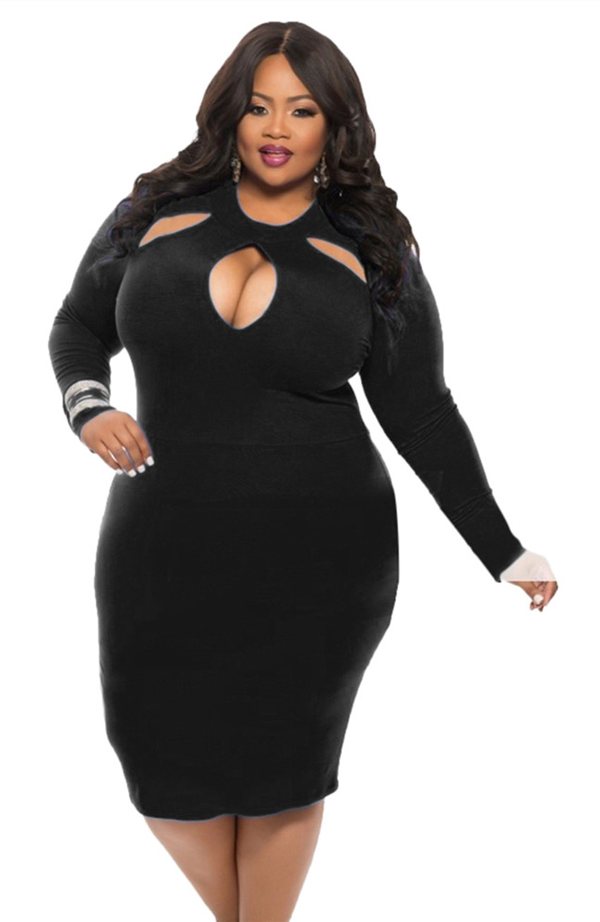 New Women Plus Size Bodycon Evening Party Dress Bandage ...