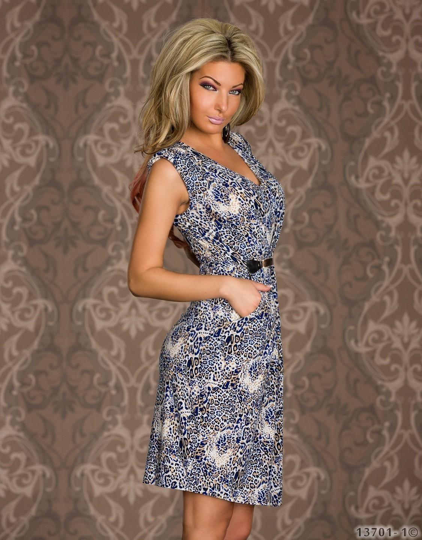 cc8c6bcfdc Discount China Wholesale Blue Leopard Print Mini Dresses Vintage ...