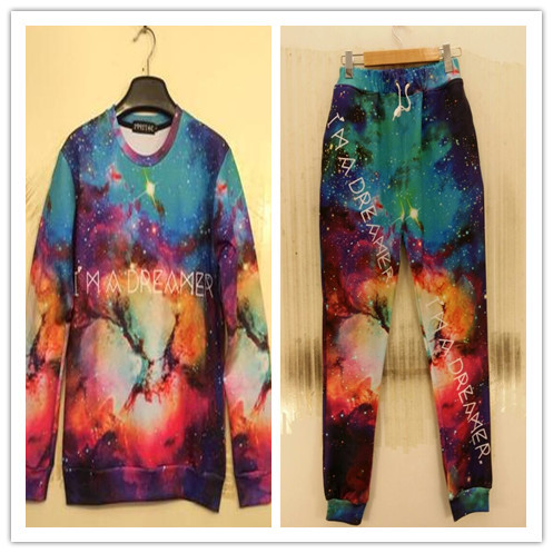 Autumn Couples Beautiful Starry Sky Printing Hoody