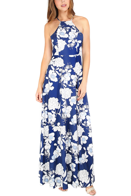 6d532fc1ac Sexy floral Print Backless Long Maxi Dress #SL2207MZ