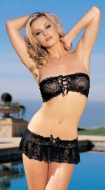 Wholesale lace sexy lingerie Black