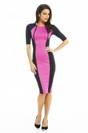 Women fashion long bandage dress purple