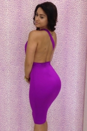 Sexy girl backless bandage dress