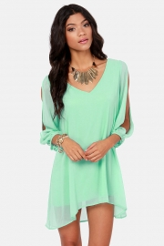 Sexy Plus Size Chiffon Off-The-Shoulder Dress Light Green