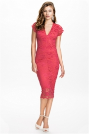 Lace sexy women Midi Dress