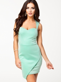 Mint Wrap Front Hem Bodycon Dress