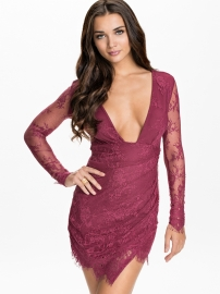 New Sexy lace long sleeve design mini dress