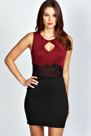 Red and black well appearance sexy women dress