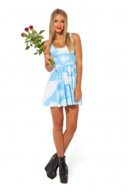 Clouds Floating Reversible Skater Dress