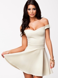 Sexy Wrapped chest Dress with Hollow-out Back White