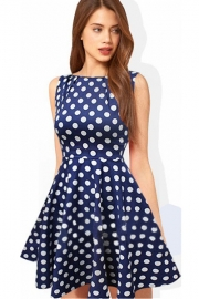 Hot Sell Bitter Fleabane bitter fleabane skirt stitching polka dot dress