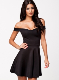 Sexy Wrapped chest Dress with Hollow-out Back Black