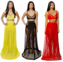 New Arrival Sexy Women Deep V-Neck Chiffon Long Dress Bodycon Bandage Clubwear Evening Dress