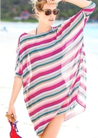 Colorful Lightsome Sheer Chiffon Cover-Up