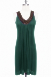 Green hot sale beach dress
