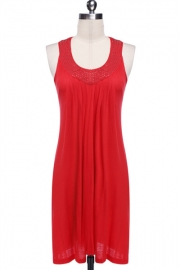 Red hot sale beach dress