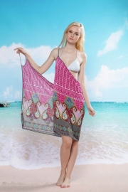 Rhodo Paisley Beach Cover-up