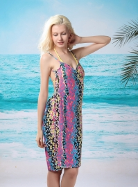 Flaming Fireworks Front Beach Cover-up Roseo