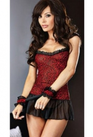 Lace Buttom Chemise With Soft Handcuff