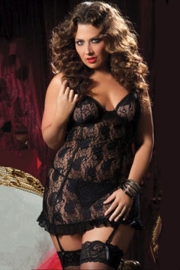 Plus Size Sexy Lingerie Black
