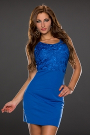 Sleeveless blue club dress