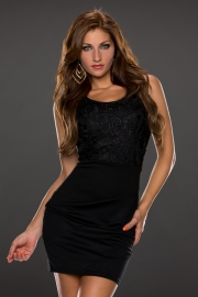 Sleeveless black club dress