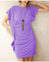 Light Purple Sleeveless Fashion Dress