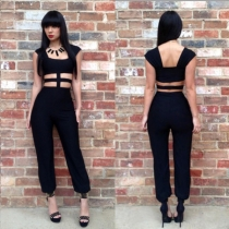 New Fashion Sexy Jumpsuit Hollow Cut Out Bandage