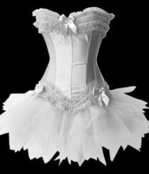 Corset with Mini Skirt White