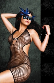 Floral Lace Shredded Bodystocking