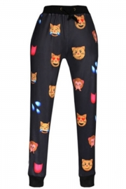 Black Emotions Smiley Face Legging