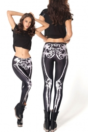 Black and White Skeleton Legging