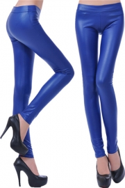 Middle-rise women leggings blue