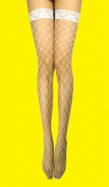 Fishnet stocking in white