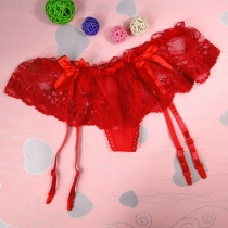 LACE GARTER BELT RED