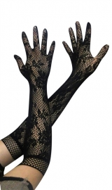 Jacquard weave gloves Black