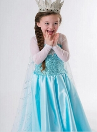 Get Free --Girls' Animated Frozen Anna and Elsa Halloween Costume