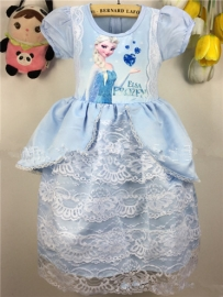 Frozen Princess Elsa Lace Bubble Skirt