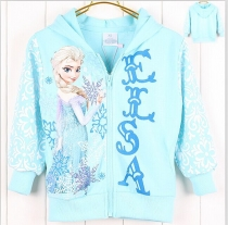 Frozen Princess Elsa Long-sleeve Children's Hooded