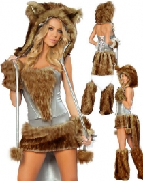 Brown Sexy Wolf Costume