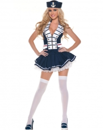 Navy Striped Sailor Costume