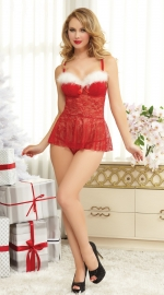 Red wholesale sexy Christmas Lingerie