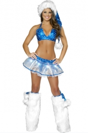 New Design Blue Christmas Costume