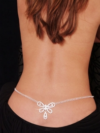 Sexy Butterfly Rhinestone Belly Chain