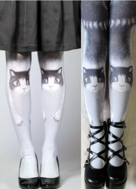 Japanese Kitty White Legging