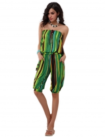 Fashion romper with green streak