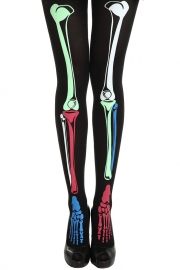 Lovely Colorful Bone Black Stocking