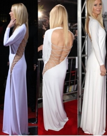 Open Back Celebrity Dresses Party Gowns