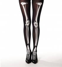 Cute Bone Balck Stocking