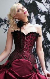 Deep Red Shadow Corset